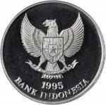 印度尼西亚1992 &1995年25-1000印尼盾精製套币5枚一组。