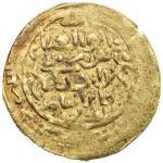 AMIR OF WAKHSH: Abu l- Abbas, 1221-1224, AV dinar (2.66g), Wakhsh, DM, A-E1754, VF.   It has been su