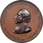 1849 Zachary Taylor Indian Peace Medal. Bronze. Third Size. First Reverse. Julian IP-29, Prucha-47.
