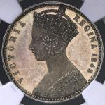 GREAT BRITAIN Victoria ヴィクトリア(1837~1901) Pattern Florin 1848 NGC-PF61 Cameo Proof AU