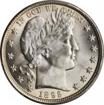 1892 Barber Half Dollar. MS-64+ (PCGS). CAC.