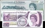 SAINT HELENA. Government of St. Helena. 50 Pence & 5 Pounds, ND (1976-79). P-5 & 7a. Uncirculated.