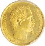 FRANCE. 10 Francs, 1854-A. Paris Mint. Napoleon III. PCGS MS-62 Gold Shield.
