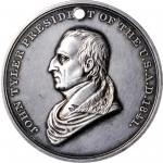 1841 John Tyler Indian Peace Medal. Third Size. Julian IP-23, Prucha-45. Silver. Choice Extremely Fi