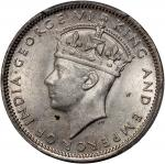 Malaya, silver 20 cents, 1943, George VI at obverse, PCGS MS63, #33171026.
