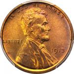 1913 Lincoln Cent. Proof-67 RD (PCGS).