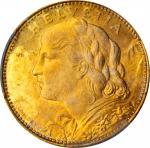 SWITZERLAND. 10 Francs, 1922-B. PCGS SPECIMEN-65 Gold Shield.