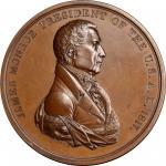 1817 James Monroe Indian Peace Medal. Bronze. First Size. First Reverse. Julian IP-8, Prucha-41. Unc