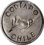 CHILE. Copiapo. Peso, 1865. PCGS AU-58 Gold Shield.
