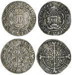 Henry VII (1485-1509), Groats (2), both type IVB, 3.05g, m.m. cross crosslet, henric di gra rex agl