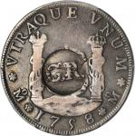 Jamaica. Undated (Act of November 18, 1758) 3 Shillings 4 Pence. Prid-5, KM-7--Counterstamped on a 1