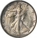 1917-S Walking Liberty Half Dollar. Reverse Mintmark. MS-64 (PCGS).