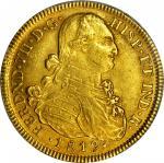 COLOMBIA. 1819/29-JF 8 Escudos. Santa Fe de Nuevo Reino (Bogotá) mint. Ferdinand VII (1808-1833). Re