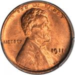 1911-D Lincoln Cent. MS-66 RD (PCGS).