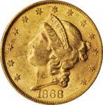 1868-S Liberty Head Double Eagle. MS-61 (PCGS). CAC.