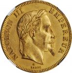 FRANCE. 100 Francs, 1862-A. Paris Mint. Napoleon III. NGC MS-61.