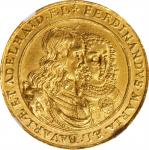 GERMANY. Bavaria. 3 Ducats, 1652. Ferdinand Maria with Adelaide. NGC AU Details--Edge Filing.