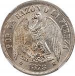 CHILE. Peso, 1878-So. NGC MS-64.