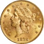 1878-S Liberty Head Double Eagle. MS-61 (PCGS). CAC.
