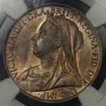 GREAT BRITAIN Victoria ヴィクトリア(1837~1901) Penny 1897 NGC-MS64RB UNC+