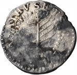 1652 Pine Tree Shilling. Small Planchet. Noe-15, Salmon 1-A, W-830. Rarity-5. VF-20, saltwater surfa