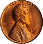 1931-S Lincoln Cent. MS-66 RD (PCGS).