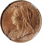GREAT BRITAIN. Farthing (1/4 Penny), 1896. London Mint. Victoria. NGC MS-64 Red.