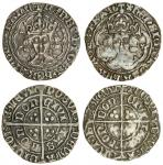 Henry VII (1485-1509), Groats (2), both type II, 2.81g, mm. none, henrc, trefoil stops, higher crown
