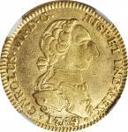COLOMBIA. 2 Escudos, 1764/3-NR JV. Nuevo Reino Mint. Charles III. NGC EF-40.