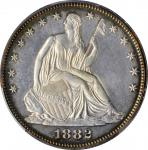 1882 Liberty Seated Half Dollar. WB-102. Misplaced Date. Proof-62 Cameo (PCGS).
