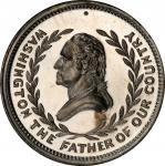 Circa 1876 Parsons Family Arms medal by George H. Lovett. Musante GW-848, Baker-640A. White Metal. M