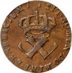 1722/1-H Sou, or 9 Deniers. La Rochelle Mint. Martin 2.13-C.3, W-11835. EF-45 (PCGS).