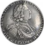 RUSSIA. Sun Ruble, 1724-CNB. Peter I (The Great) (1689-1725). PCGS EF-40 Secure Holder.