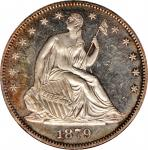 1879 Liberty Seated Half Dollar. WB-101. Type I Reverse. Proof-61 (NGC).
