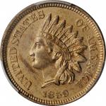 1859 Pattern Indian Cent. Judd-228, Pollock-272. Rarity-1. Copper-Nickel. Plain Edge. MS-63 (PCGS).