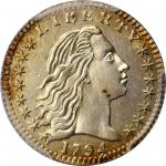 1794 Flowing Hair Half Dime. LM-2. Rarity-5. MS-62 (PCGS).