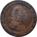 GREAT BRITAIN. 2 Pence, 1797. George III (1760-1820). PCGS AU-55 Secure Holder.