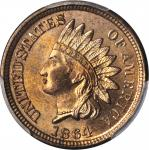 1864 Indian Cent. Bronze. MS-66 RB (PCGS).