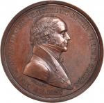 1837 Martin Van Buren Indian Peace Medal. Third Size. First Reverse. Bronzed Copper. 51 mm. By Morit
