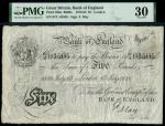 Bank of England, Frank May (1873-1893), 5, London, 13 July 1886, serial number 97/U 03505, black and