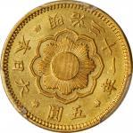 明治三十一年五圆金币。