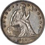 1862 Liberty Seated Silver Dollar. Proof-62 (ANACS). OH.