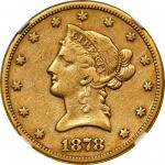 1878-CC Liberty Head Eagle. EF-40 (NGC).