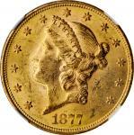 1877-S Liberty Head Double Eagle. MS-61 (NGC).