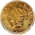 1871-L Round 50 Cents. BG-1029. Rarity-4+. Liberty Head. Unc Details--Scratch (PCGS).