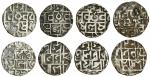 Cooch Behar, Prana Narayan (1633-65), Half-Tankas (4), the first Sk.1555, the others with no visible
