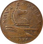 1786 New Jersey Copper. Maris 15-L, W-4820. Rarity-4. Leaning Head. VF-30 (PCGS).