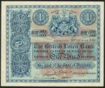 British Linen Bank, £1, 19 August 1919, serial number H 233/346, blue and white, bank initials in pa