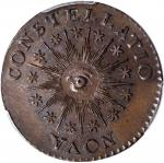 1785 Nova Constellatio Copper. Crosby 3-B, W-1895. Rarity-2. CONSTELLATIO, Pointed Rays. MS-62 BN (P