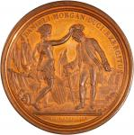 1781 (post 1839) Daniel Morgan at Cowpens Medal. Barre Copy Dies. Bronzed copper. 56.3 mm. 73.1 gram